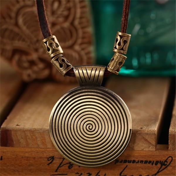 Leather Hypnosis Maxi Necklace