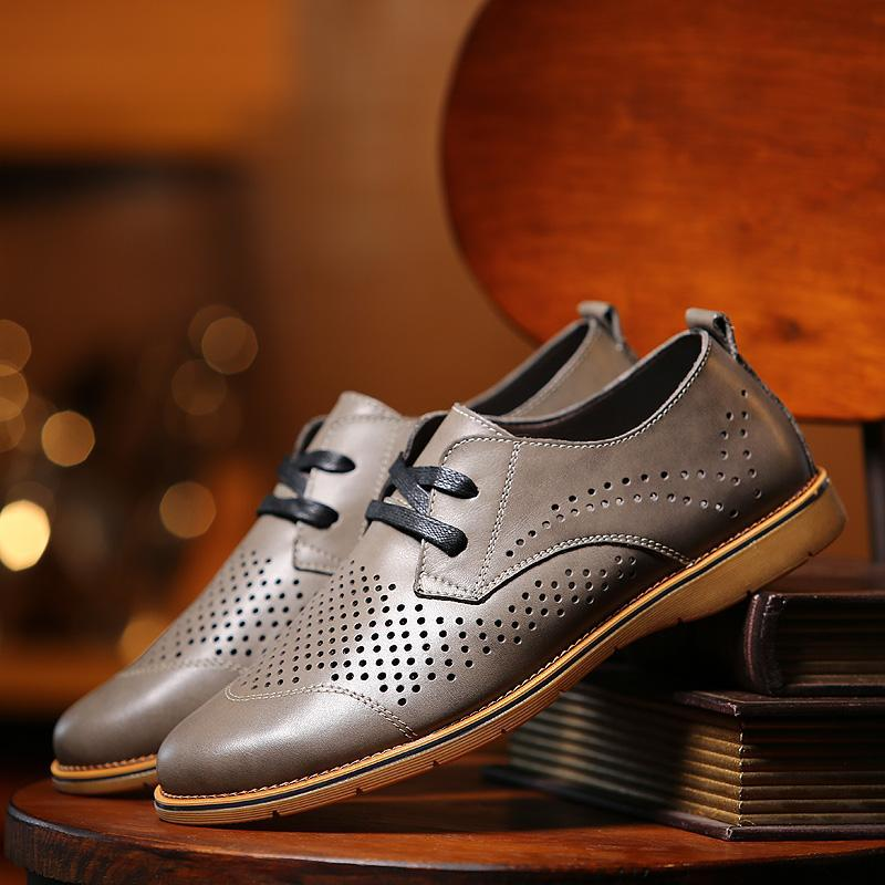 Summer Derby Leather Shoes