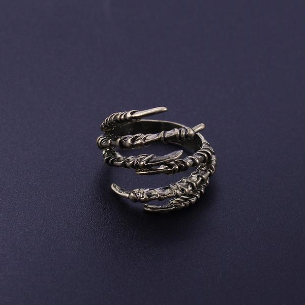 Bronze Raven Claw Ring